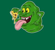 Slimer eating pizza Unisex T-Shirt