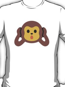 Hear-No-Evil Monkey Google Hangouts / Android Emoji T-Shirt