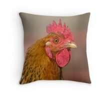 hen in the farm Throw Pillow