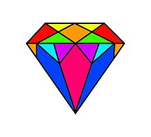 Colourful diamond Photographic Print
