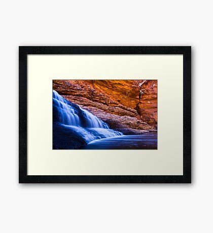 Garden of Eden Waterfall Framed Print
