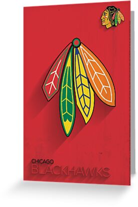 Chicago Blackhawks Minimalist Print by SomebodyApparel