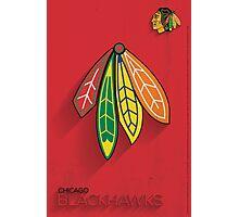 Chicago Blackhawks Minimalist Print Photographic Print