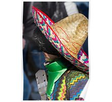 mask sombrero to carnelale Poster