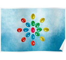 Easter eggs ornaments Poster