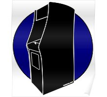 Retrogamer - Arcade Cabinet Silhouette - BLUE Poster