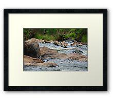 Boulder Cascades - Manning River NSW Framed Print
