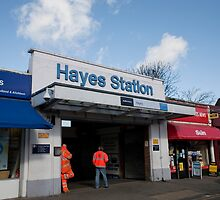 Hayes Railway Station in Kent by Keith Larby