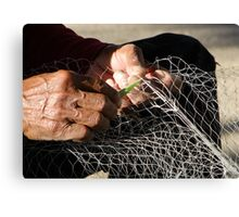 Sewing Nets Canvas Print