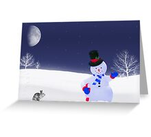 Hunting For Carrots Greeting Card