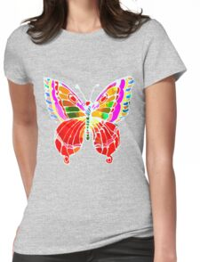 BUTTERFLY FOR YOU Womens Fitted T-Shirt