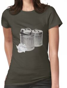 Trash Cans Womens Fitted T-Shirt