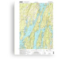 Maine USGS Historical Map Westport 103106 2000 24000 Canvas Print