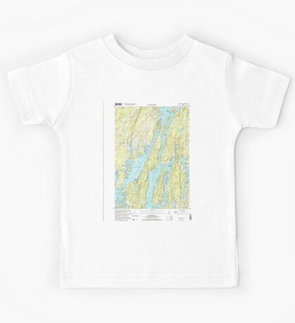 Maine USGS Historical Map Westport 103106 2000 24000 Kids Tee