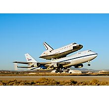 Space Shuttle Endeavour Departs Edwards AFB on 747 SCA Photographic Print