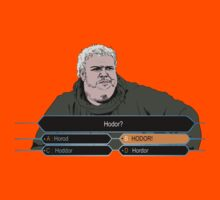Who wants to be Hodor? Kids Clothes