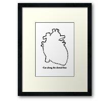 Cut out my heart Framed Print