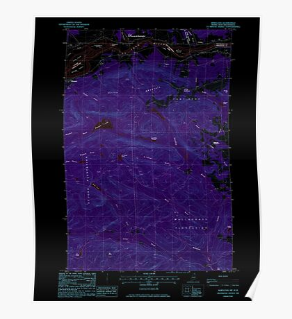 Maine USGS Historical Map Wheelock 103107 1985 24000 Inversion Poster