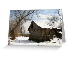 A Winter Scene in Barda, Romania Greeting Card