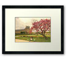 Springtime at the Tuileries Gardens, Paris Framed Print