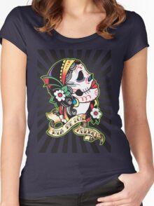 Dia de los Muertes Women's Fitted Scoop T-Shirt