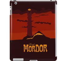Mordor vintage travel poster iPad Case/Skin