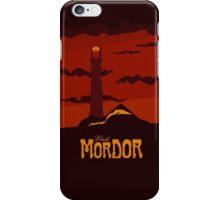 Mordor vintage travel poster iPhone Case/Skin