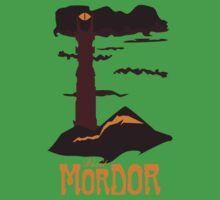 Mordor vintage travel poster Kids Clothes