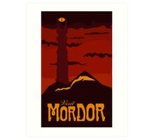Mordor vintage travel poster Art Print