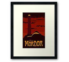 Mordor vintage travel poster Framed Print