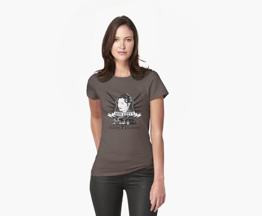 Miss Kitty Kustom T-Shirt by Rob Stephens