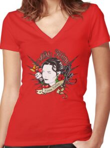 Miss Kitty Women's Fitted V-Neck T-Shirt