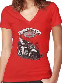 Johnny Tuxedo Women's Fitted V-Neck T-Shirt