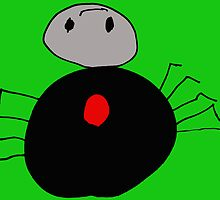 Redback Spider (Issy age 5) by jeciaissy