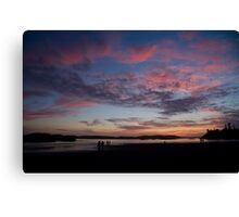 Sunset in Tofino Canvas Print