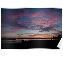 Sunset in Tofino Poster