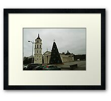 Vilnius preparing for Christmas Framed Print
