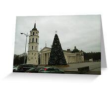 Vilnius preparing for Christmas Greeting Card