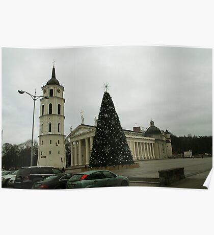 Vilnius preparing for Christmas Poster
