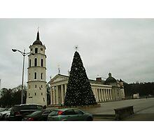 Vilnius preparing for Christmas Photographic Print