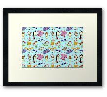 Cute girls Framed Print