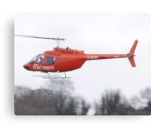 electricity helicopter Canvas Print