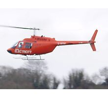 electricity helicopter Photographic Print