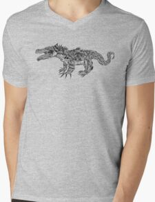 Lizard Mens V-Neck T-Shirt