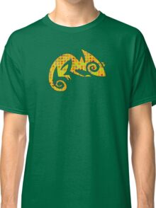 Yellow lizard with Chinese Characters Classic T-Shirt