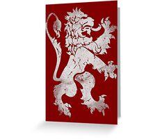 Heraldic Lion Greeting Card