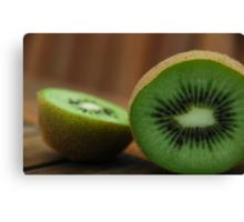 Sliced Kiwi Canvas Print