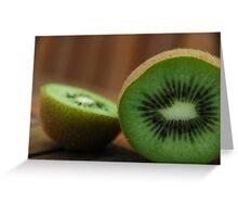Sliced Kiwi Greeting Card