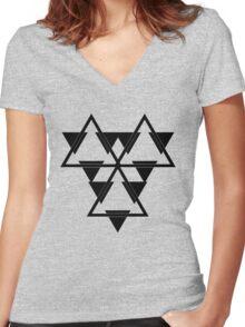Battlestar Women's Fitted V-Neck T-Shirt
