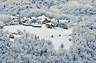 Snow around Musièges village by Patrick Morand